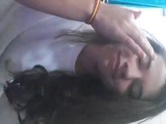 Novinha chegou da escola e gravou video pro namorado
